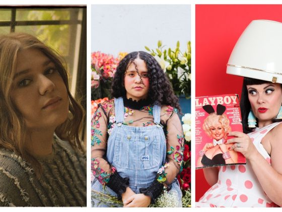 Power-Frauen der Musik: Collage mit Fotos von YEBBA, Lido Pimienta und Tami Neilson.