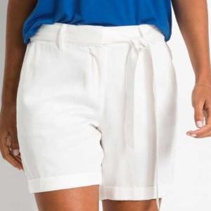 Bonprix - Shorts mit Bindeband weiß