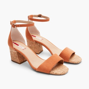 s.Oliver Sandaletten mit Metalldetail - orange
