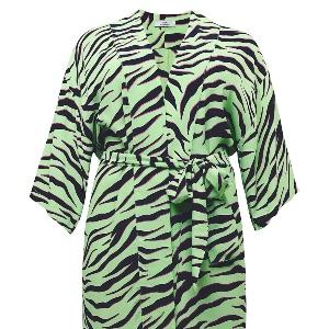 sheego by Miyabi Kawai – Longbluse Kimono mit Alloverdruck
