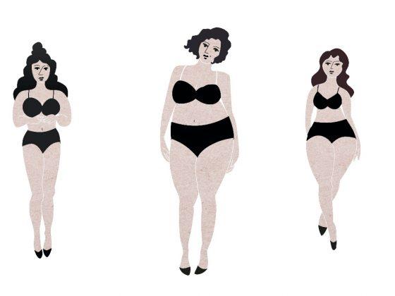 Collage mit verschiedenen Figur-Formen: Shape Styling Shorts