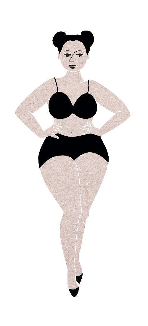 """Die passenden Shorts für den Sommer finden. X-Form: Grafik """"Xenia"""" mit schmaler Taille."""