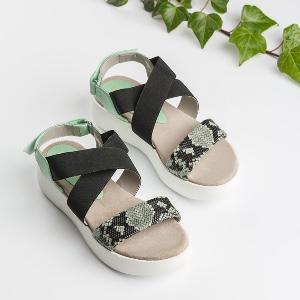 Unisa – Sport-Sandalen mit Schlangenprint