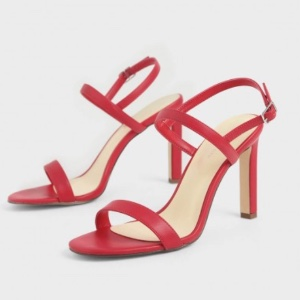 Charles & Keith – Rote Slingback Stiletto Heels
