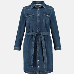 Kleid, Jeans, elastische Taille, Langarm