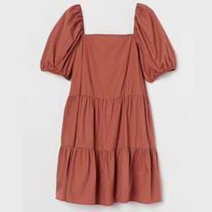 H&M+ Kleid mit Puffärmeln
