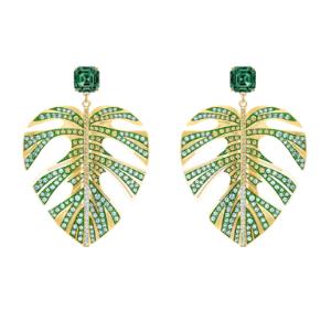 Swarovski - Ohrringe Tropical Leaf