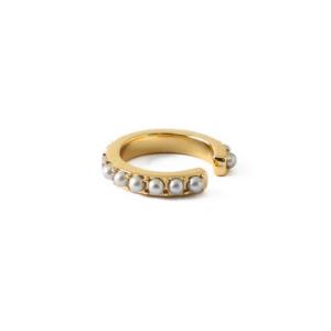 Orelia - Mini Earcuff mit Perlen