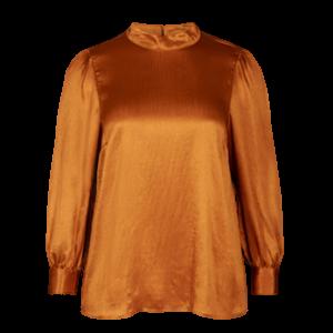 Zizzi - Shiny Bluse mit Puffärmeln