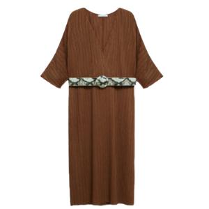 Violeta - Plissée-Kleid mit Gürtel
