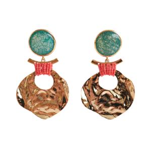 Zara - Ohrringe mit Achat und Schmuckperlen